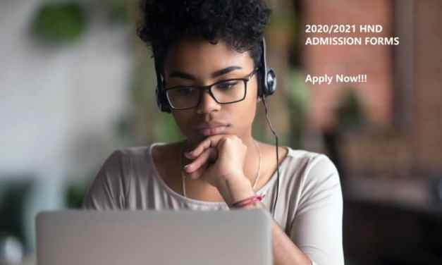 Federal Polytechnic Nekede Owerri (FPNO) HND Admission Form for 2020/2021 Academic Session [UPDATED]