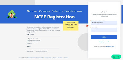 NCEE Portal Login 1 - NCEE 2020/2021 Registration Form for Unity Schools [Photos]
