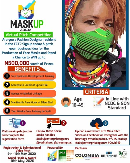 how to apply for maskup abuja competition to produce face mask - How to Apply for MaskUp Abuja Competition to Produce Face Mask