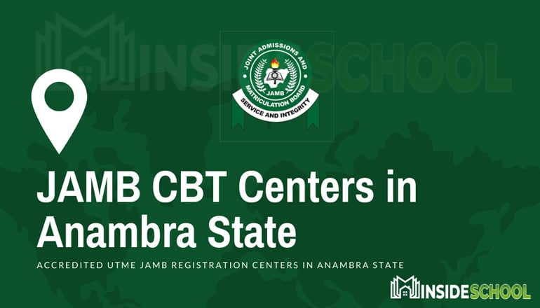 JAMB CBT Centers in Anambra State - JAMB Accredited CBT Centres in Anambra State for UTME Registration
