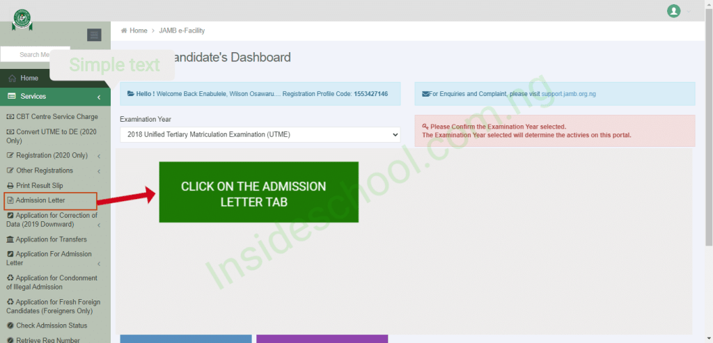 jamb admission letter 1024x493 - How to Print JAMB Admission Letter for UTME and Direct Entry [2019 and Years Downward]