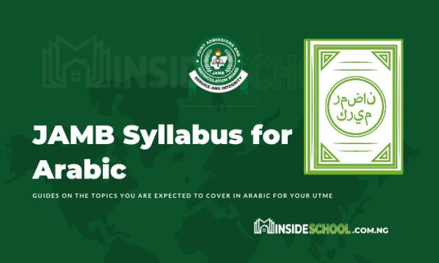 Joint Admissions and Matriculation Board (JAMB) Syllabus for Arabic