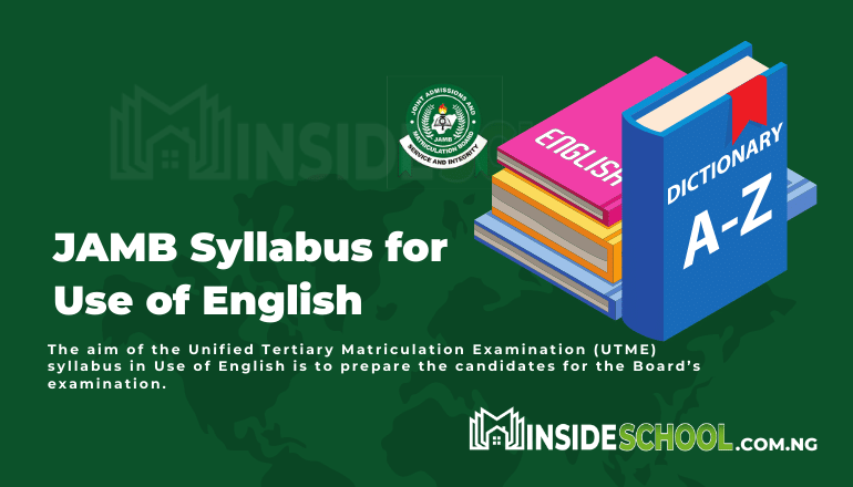 JAMB Syllabus for English - Joint Admissions and Matriculation Board (JAMB) Syllabus for English Language