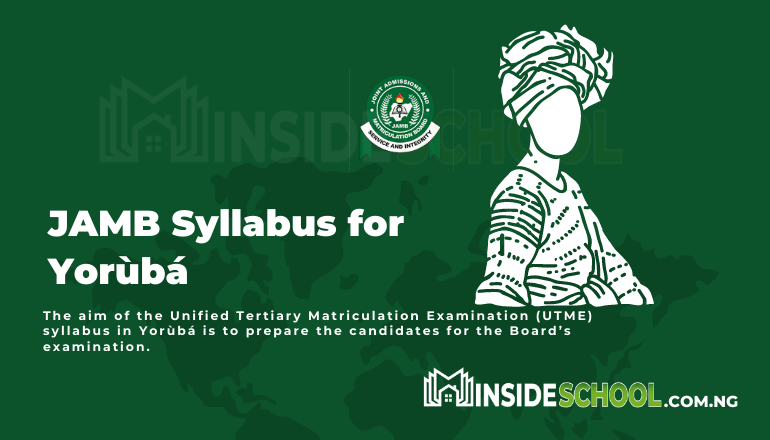 JAMB Syllabus for Yoruba PDF 1 - JOINT ADMISSIONS AND MATRICULATION BOARD (JAMB) SYLLABUS FOR YORÙBÁ
