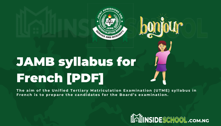 JAMB syllabus for French PDF - Joint Admissions and Matriculation Board (JAMB) Syllabus for French