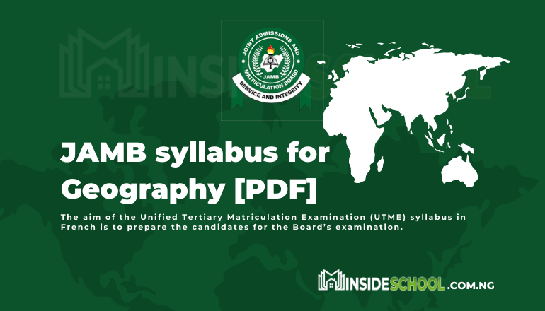 JAMB syllabus for Geography PDF 1 - Joint Admissions and Matriculation Board (JAMB) Syllabus for Geography