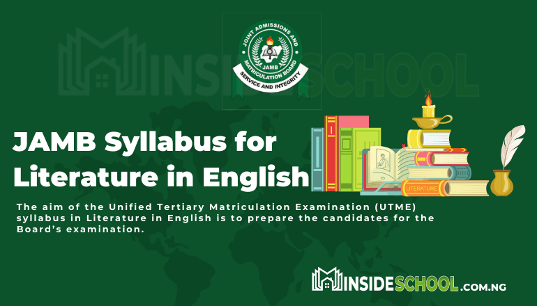 JAMB syllabus for Literature in English pdf - JOINT ADMISSIONS AND MATRICULATION BOARD (JAMB) SYLLABUS FOR LITERATURE IN English