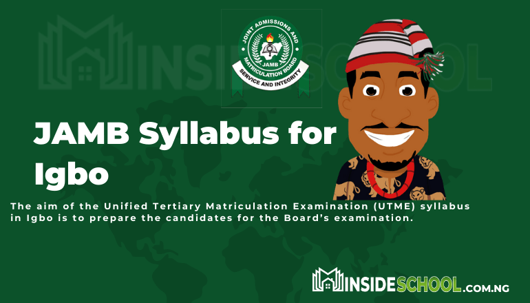 JAMB syllabus for igbo pdf - Joint Admissions and Matriculation Board (JAMB) Syllabus for Igbo