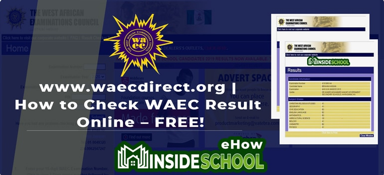 How to Check WAEC Result Online FREE 1 - www.waecdirect.org | How to Check 2020 WAEC Result Online – FREE!