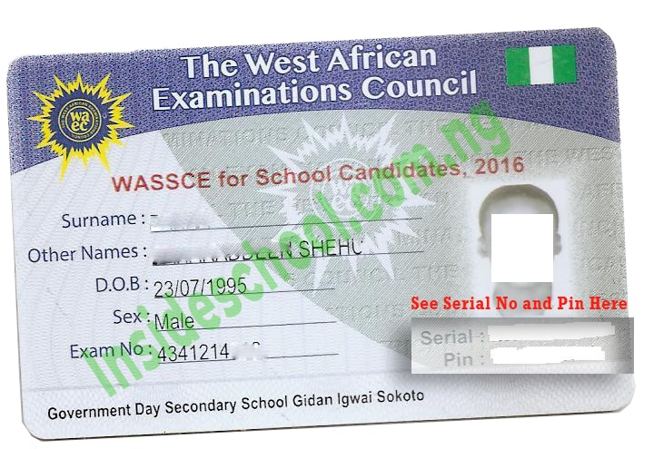 waec id card - West African Examinations Council (WAEC) GCE Result 2020 (Second Series)