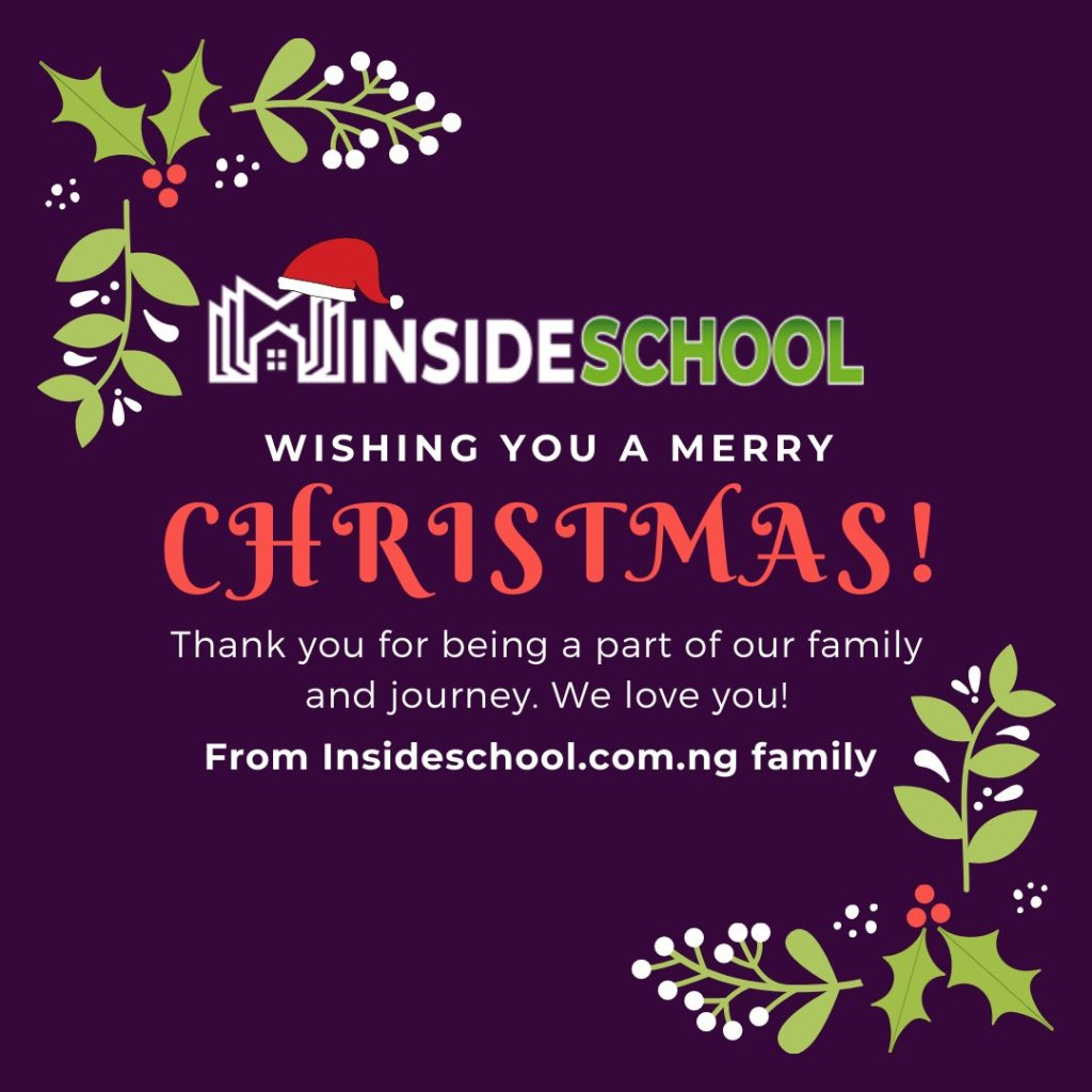 Merry Xmas from Insideschool 1024x1024 - Merry Christmas 2020: Greetings images, SMS, Messages, Quotes for Instagram , WhatsApp, Facebook status