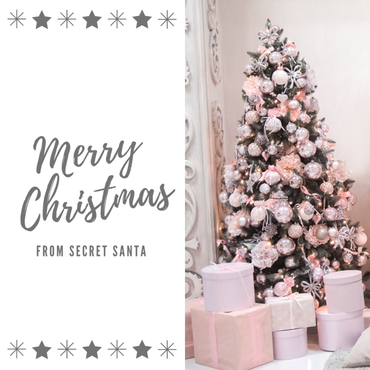 Pink Merry Christmas Holiday Secret Santa Post - Merry Christmas 2020: Greetings images, SMS, Messages, Quotes for Instagram , WhatsApp, Facebook status
