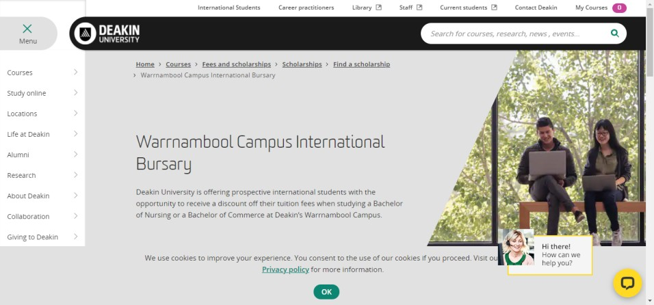 Warrnambool Campus International Bursary - Warrnambool Campus International Bursary at Deakin University, Australia 2021
