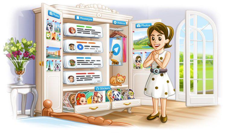 Telegram 4.5 header