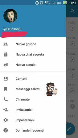 telegram 4.5 messaggi salvati voce menu
