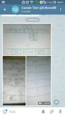 telegram 4.8 beta-didascalia album