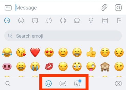 telegram 5.5 per android e ios ricerca emoji