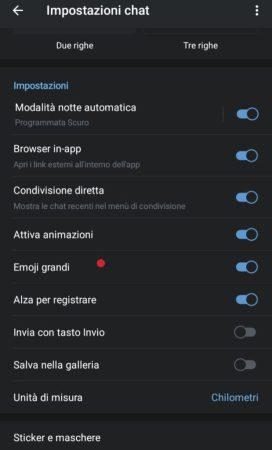 telegram 5.10 per android e ios big emoji