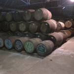 Whisky Casks at a warehouse