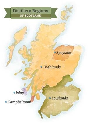 whisky regions - from forwhiskeyloversdotcom