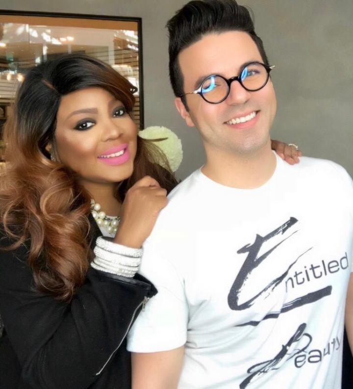 Founders Of Entitled Beauty Cosmetics Brandy Gomez-Duplessis and Johnny Luoma