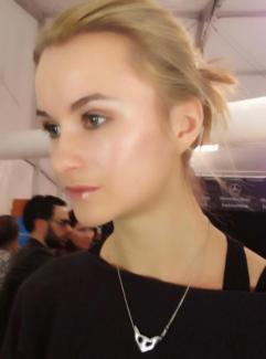 Makeup by Brandy Gomez-Duplessis on Project Runway model for finale show