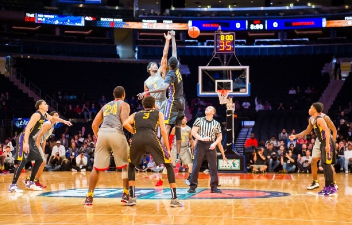 at Madison Square Garden in New York, New York on Saturday, Apr 4, 2015. DICKS Sporting Goods High School National Tournament Boys Basketball Final between #1 Oak Hill and #2 Montverde Academy. by Steven Ryan