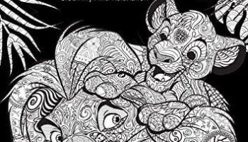 2 New Disney Adult Coloring Books