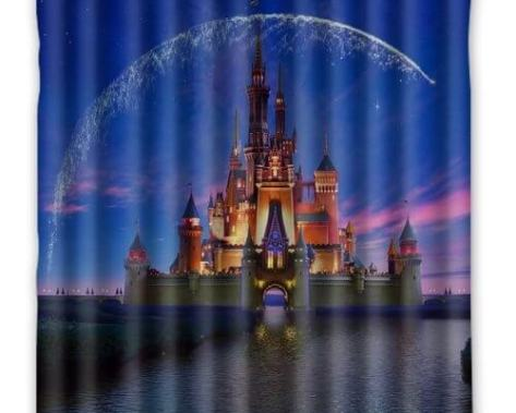 Disney Castle Waterproof Fabric Shower Curtain