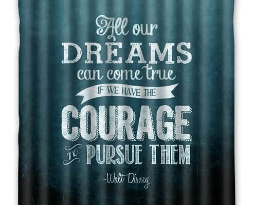 Walt Disney quote personalize shower curtain   Inside the Magic