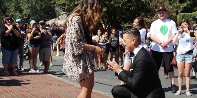 Video Disney Fan Crafts Elaborate Surprise Proposal At Disneyland