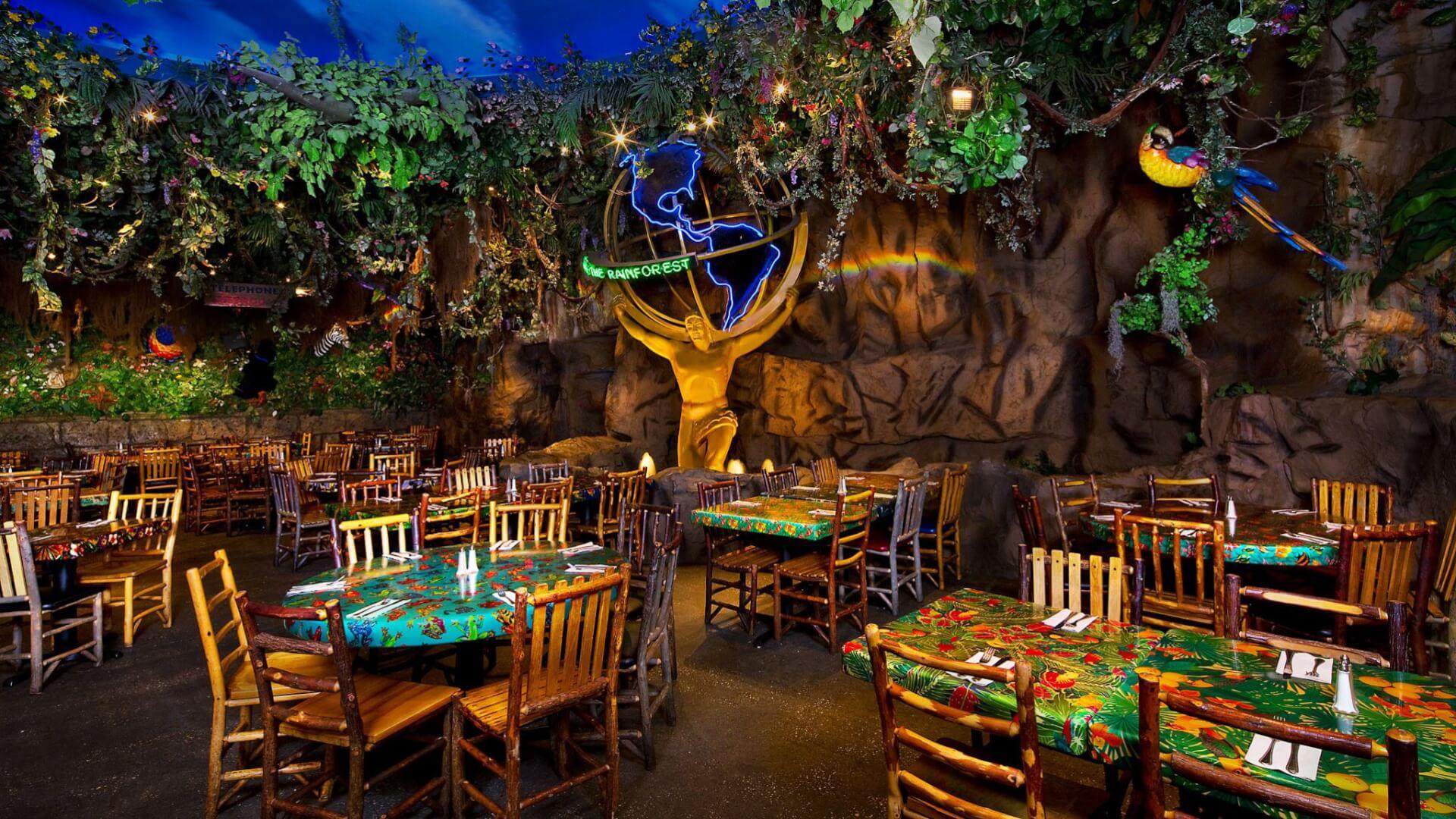 parking for rainforest cafe