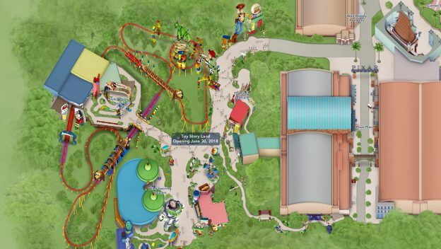 Toy Story Land map
