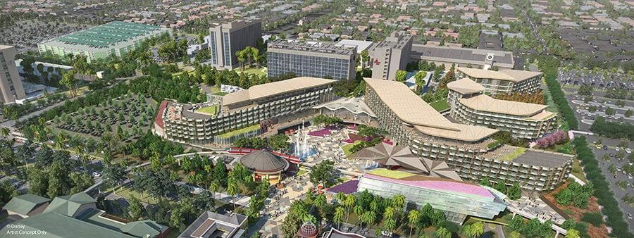Photo du nouvel hôtel dont les travaux sont en pause.