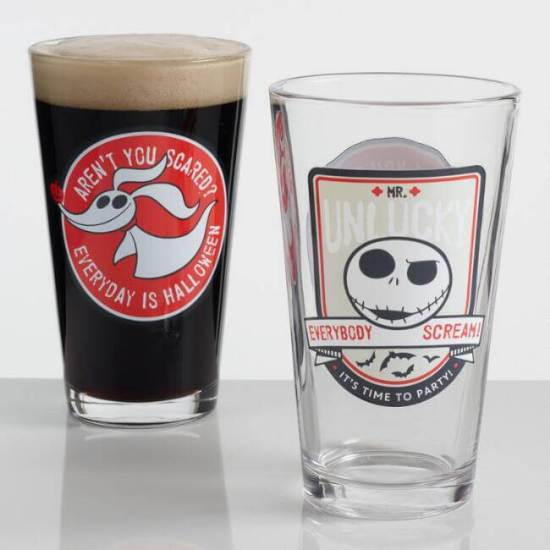 Disney's Nightmare Before Christmas Pint Glasses