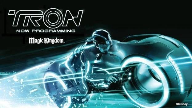 Photo de la présentation de l'attraction TRON à Walt Disney World Resort.