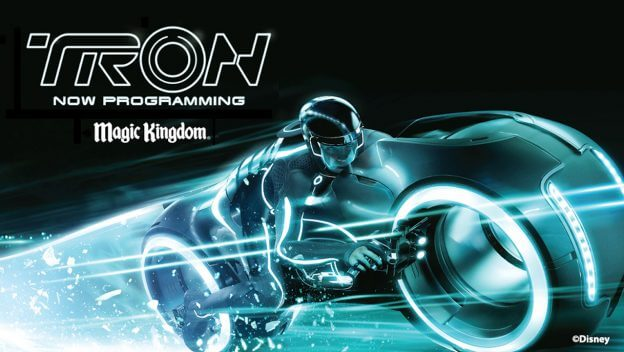 Photo de la présentation de l'attraction TRON à Walt Disney World Resort.