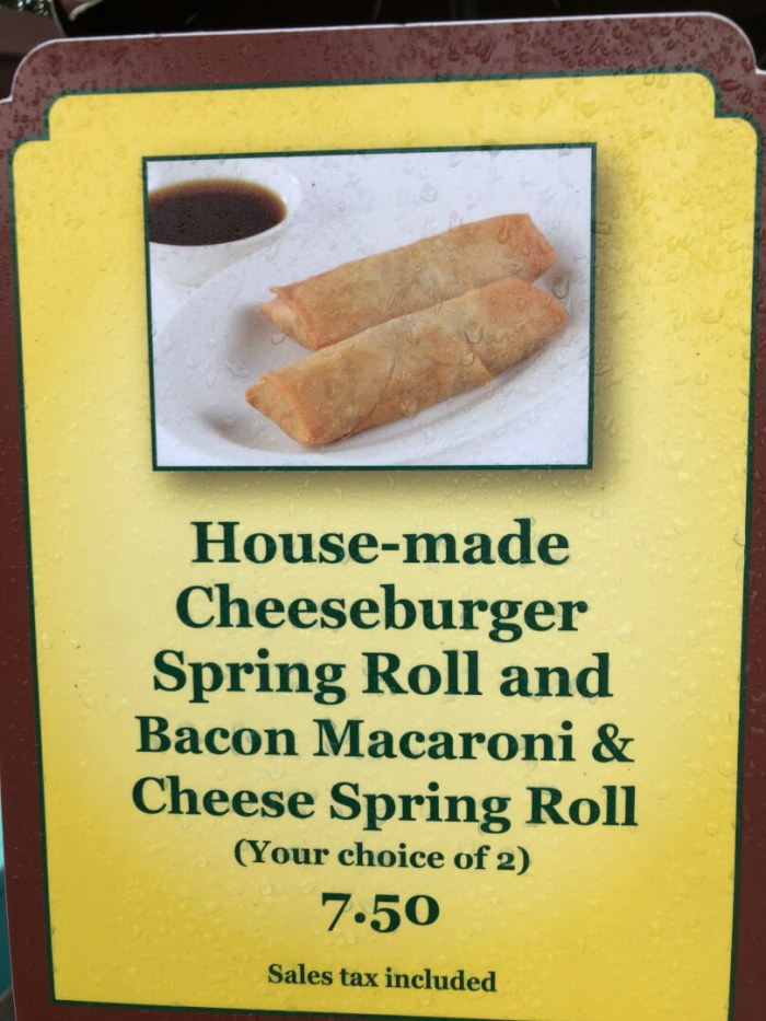 Cheeseburger Spring Rolls and Bacon Macaroni & Cheese Spring Rolls