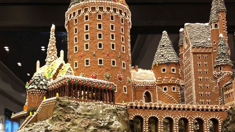 Duchess Bake Shop Conjures Giant Gingerbread Hogwarts Castle
