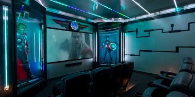 Magical Vacation Home media room