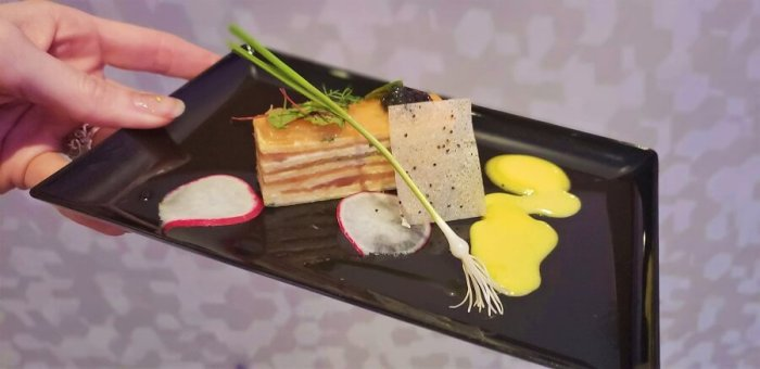 Salmon with Caviar at Epcot Festival of the Arts 2019