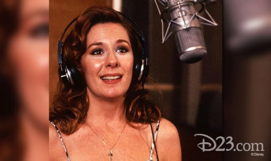 "Paige O'Hara singing for Disney's ""Beauty and the Beast"""