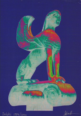 The Sphinx of Delphi (Delphi Museum, Greece) 3, Jefre Harwoods. 600 B.C.E./1993/2001-2003