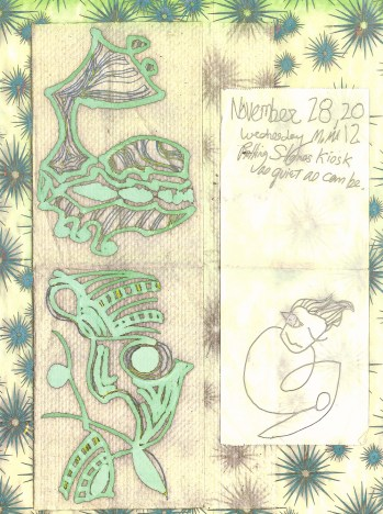 Register Tape Drawings at Rolling Stones Kiosk 2