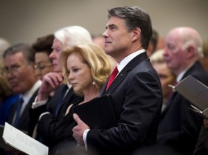Rick Perry and his wife, Anita (AP Photo/Star-Telegram, Joyce Marshall)