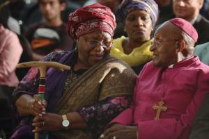 Desmond Tutu and wife