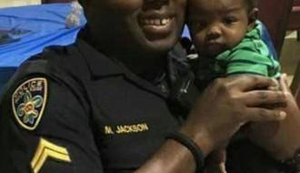 Montrell Jackson with baby