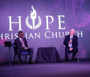 Bishop Harry Jackson and Vice President Mike Pence