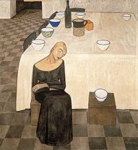 Casorati, Una donna (o L'attesa) 1921 tempera su tela m 1,37x 1,27