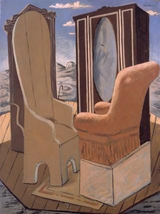 Giorgio De Chirico, Mobili nella valle, 1927, dim. 1,30 x 1,00, Roma
